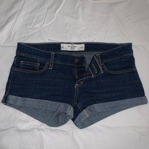 Abercrombie & Fitch dark wash shorts